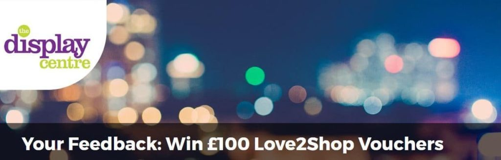 Your feedback - win £100 Love2Shop Vouchers