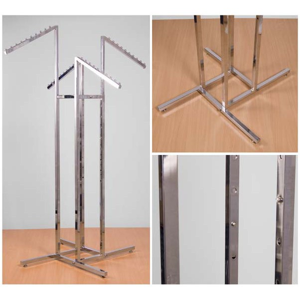 Chrome Feature Rail with Four Sloping Ball Arms