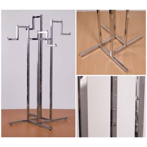 Chrome Feature Rail with Four Stepped Drop Arms