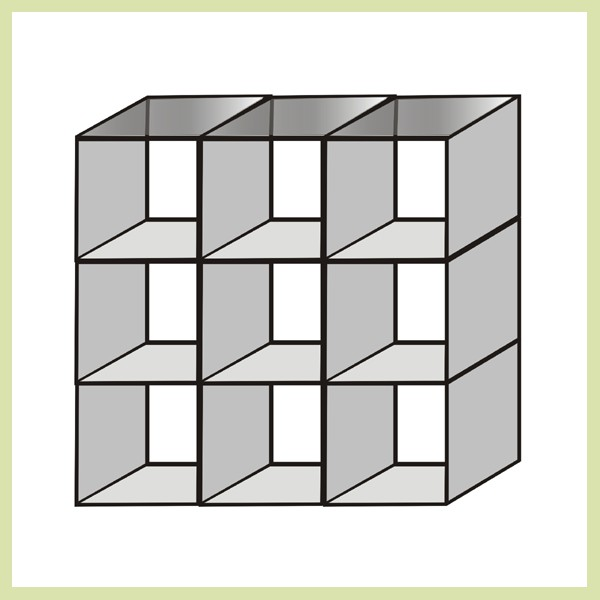 Glass Cube - Square Nine