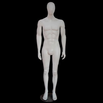"Matt White Featureless Full Body Male Mannequin ""Tom"""