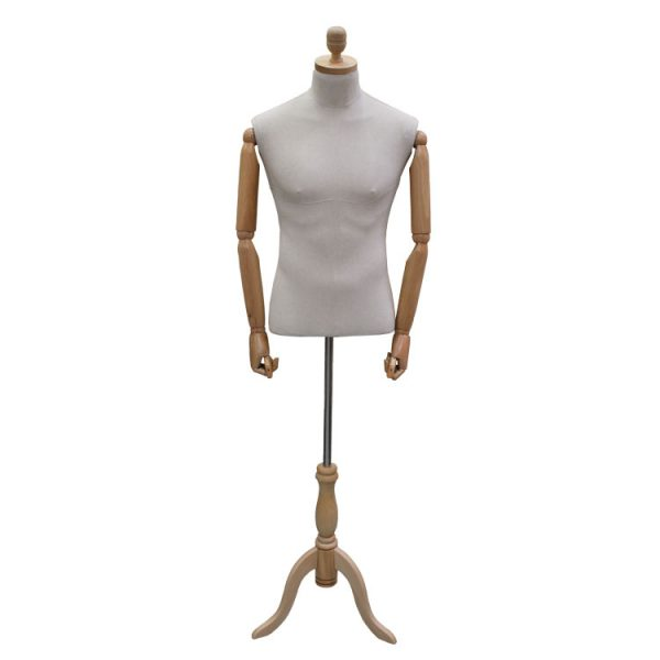 Male Articulated Dummy With Shaped Base