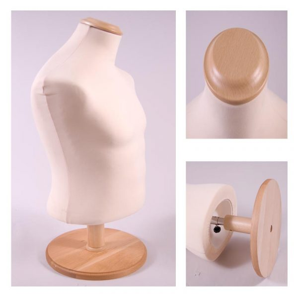 Short Male Beige Body With Wooden Ash Stand & Cap