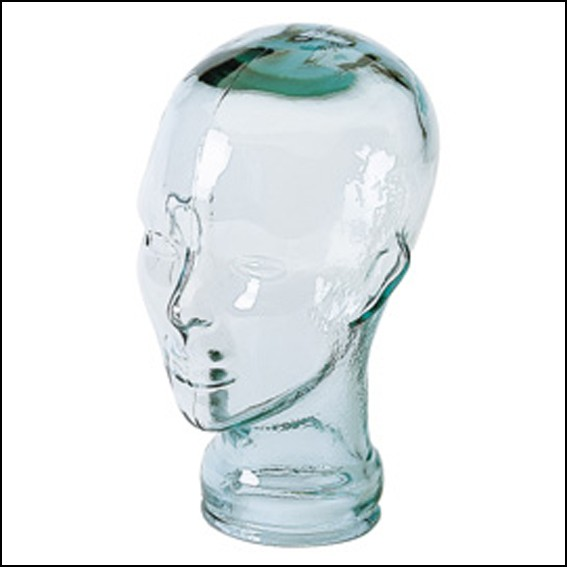 Clear Glass Display Heads, Unisex