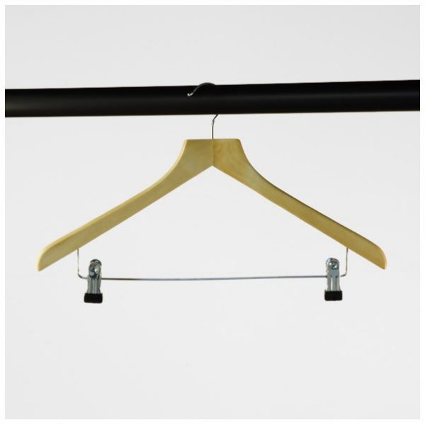 Wooden Suit Hangers With Clips (430 mm)
