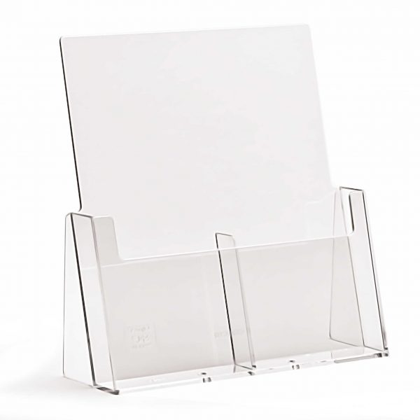 Counter Standing DL Portrait Leaflet Holder (Two Pockets)