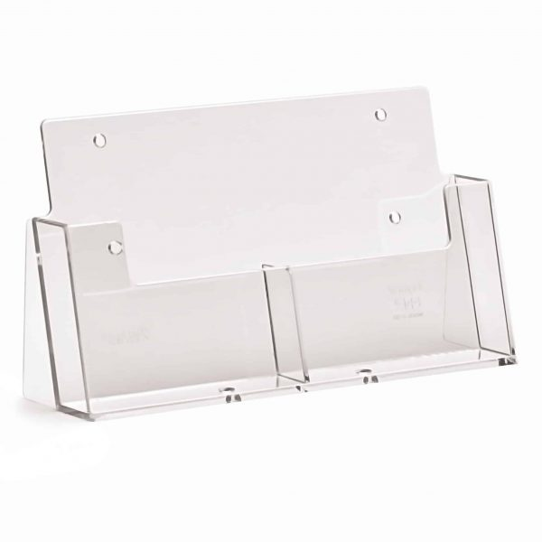 Counter Standing A6 Portrait Leaflet Holder (2 Pocket)