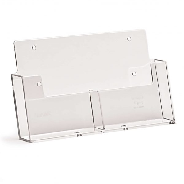 Wall Fix A6 Portrait Leaflet Holder (Two Pocket)