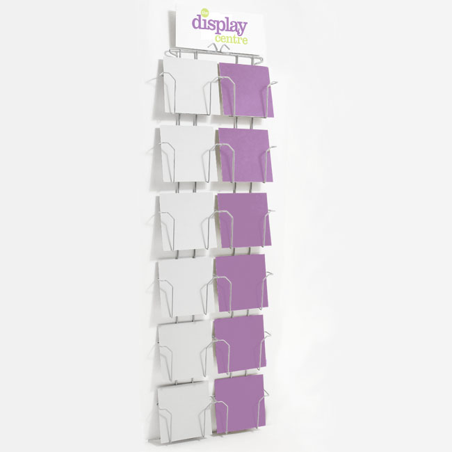 "Greetings Card Wall Rack - 12 Pockets For 17.8cm (7"") Square Cards"