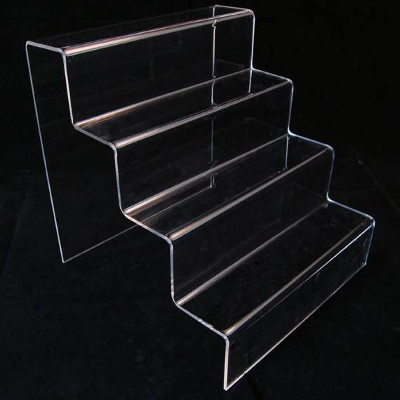 Large Clear Platform Four Step