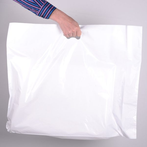 Extra Large White Carrier Bags 45 Mic (250Pc)