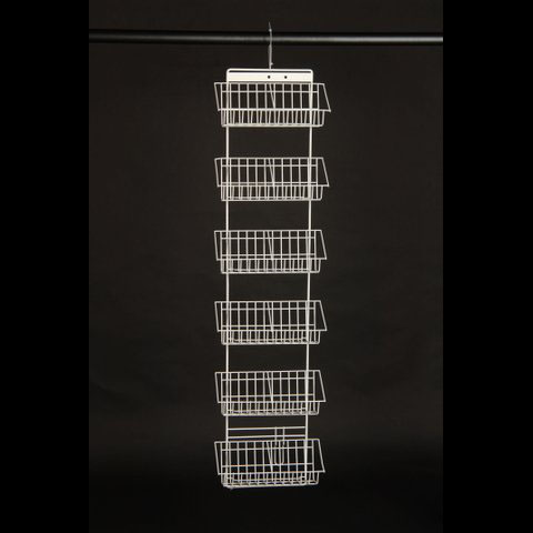 White Wire DVD Rack