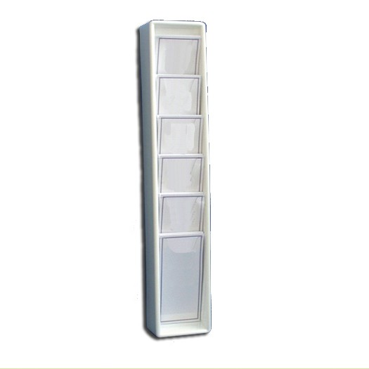 DL Leaflet Dispenser 6 Pockets White
