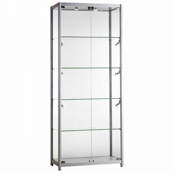 Glass Display Showcase Tall Wide