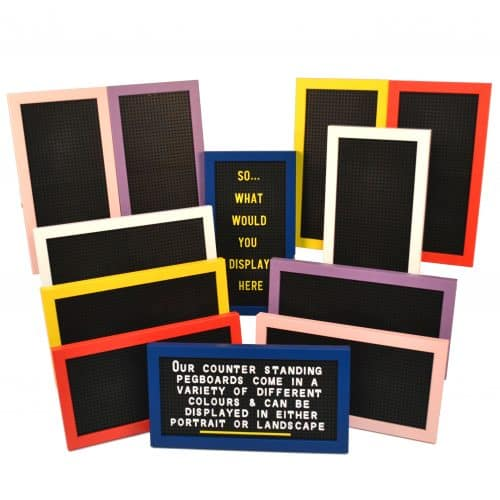 Pack of 3 Framed Peg Letter Boards