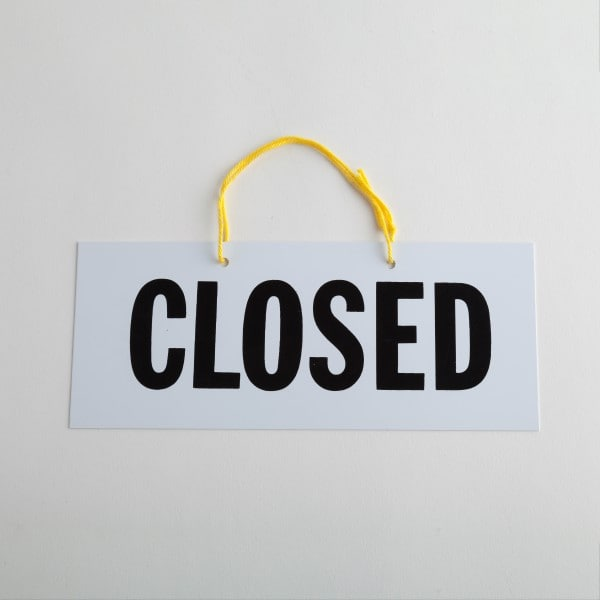 Plain Open Closed Sign