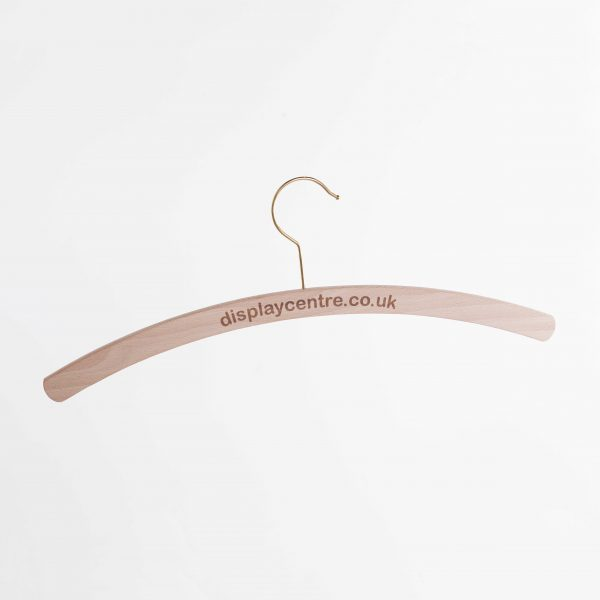 Beech Wooden Hangers With Gold Hooks (FSC) (400 mm)