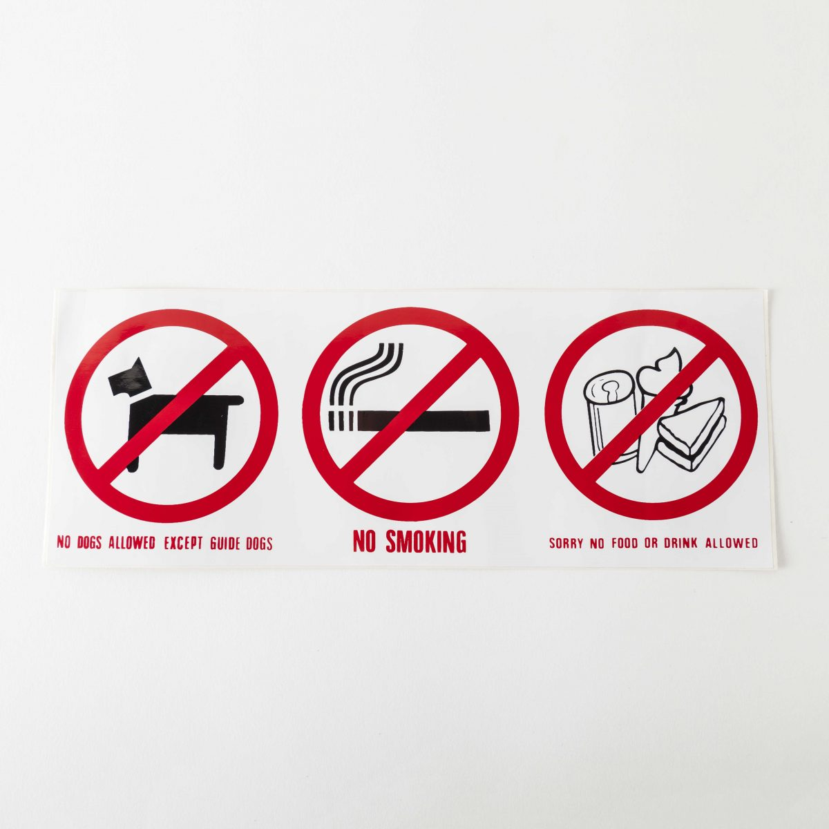 Front Adhesive Warning & Safety Signs