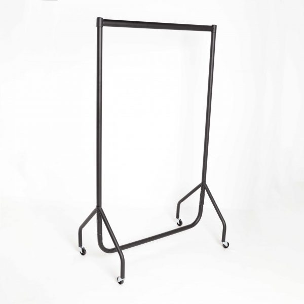 Black Clothing Rail With Wheels (3-6 ft Long & Junior)