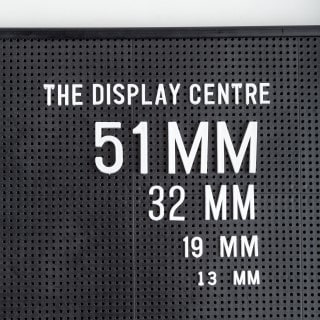 White numbers for letterboard 51mm (366 Pieces)