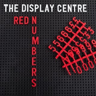Red Numbers For Letter Boards 19 mm (207 Pieces)