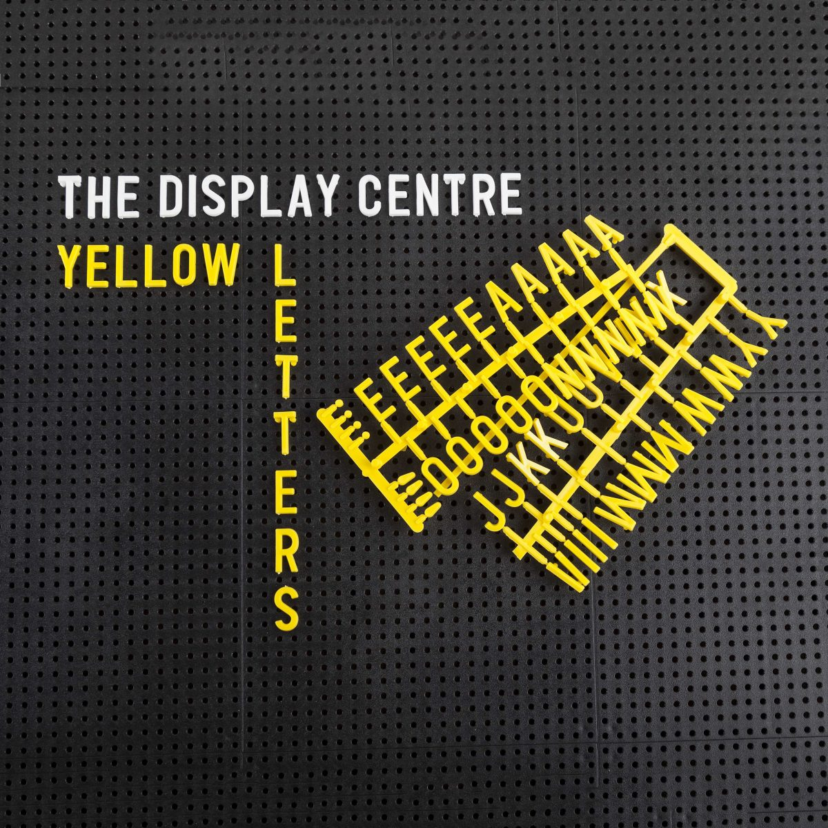 Yellow Letters For Letter Boards 19 mm (282 pieces)