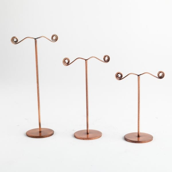 Set of 3 Metal Earring Holders