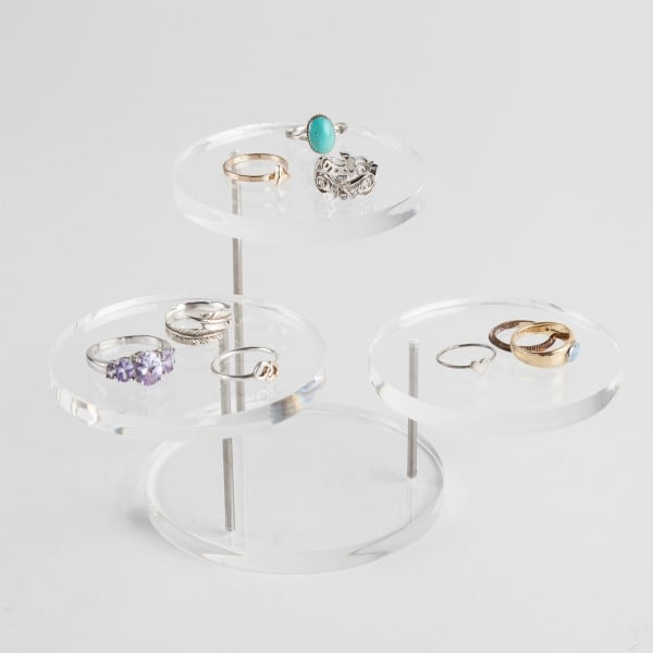 Multi-Level Clear Jewellery Stand