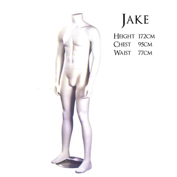 "Headless Male Mannequin - Matt White ""Jake"""