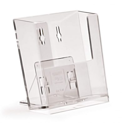 Wall Fix A6 Portrait Leaflet Holder (Including Free Stand)