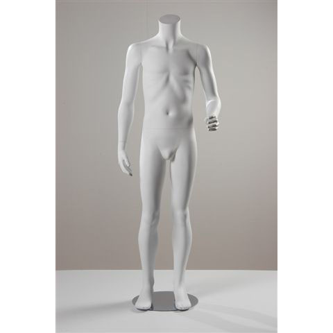 Age 6-8 Matt White Headless Boy Mannequin