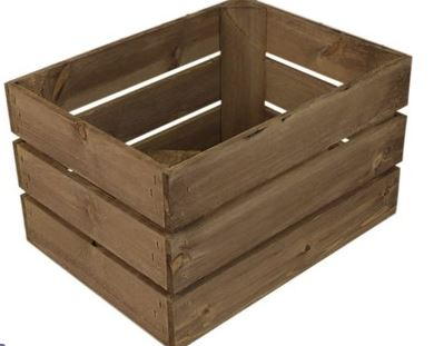 Crates | Oak Stained Wooden Crates